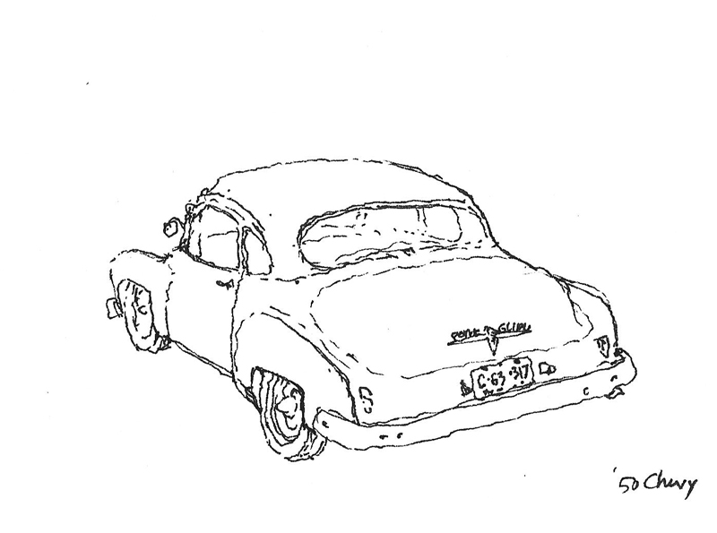 urban sketchers seattle 1950 chevy coupe 1936 Chevrolet Ad 1950 chevy coupe