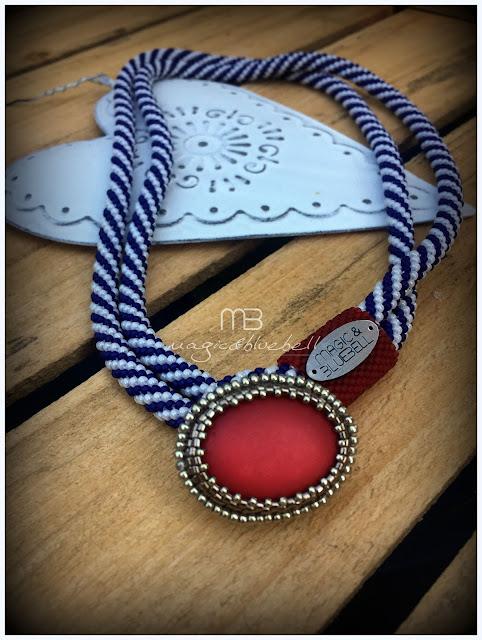 Gyöngyhorgolt tengerész nyaklánc