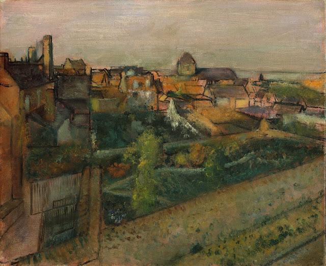 Эдгар Дега - Вид на Сен-Валери-сюр-Сом (1896-1898)