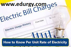 How to know per unit rate of electricity in all states of india?