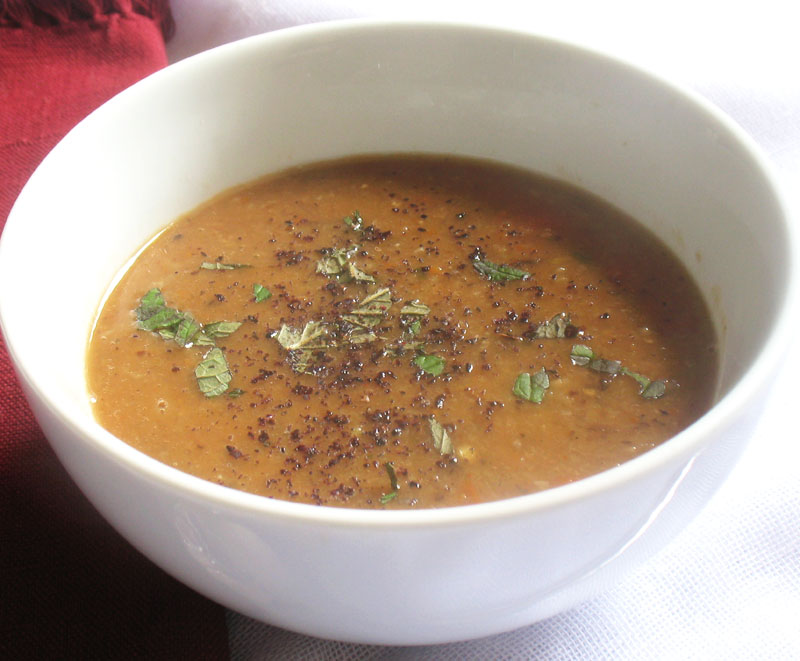 Turkish Red Lentil Soup with Mushrooms and Sumac | Lisa's ...