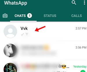 friend chat list on whatsapp