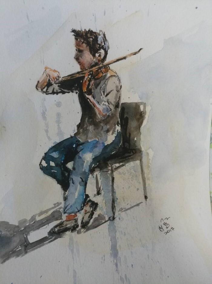 Prabhu Sathyamoorthy. Сингапурский художник.