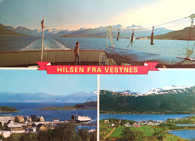 Vestnes Norvegia, cartolina del 1979