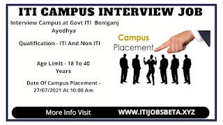 ITI Jobs Campus Placement In Government ITI, Beniganj Ayodhya