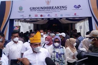 GROUNDBREAKING Proyek Pembangunan PLTGU di Kabupaten Batu Bara Diresmikan