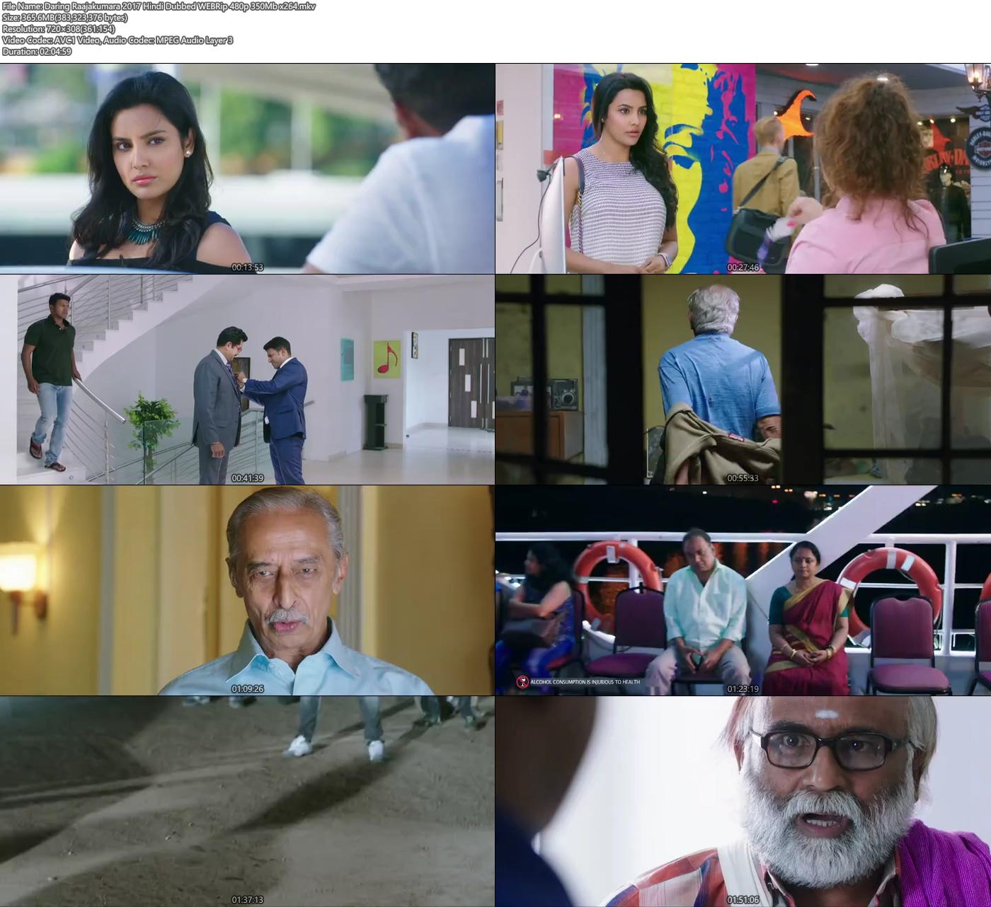 Daring Raajakumara 2017 Hindi Dubbed 480p WEBRip 350MB x264 Screenshot