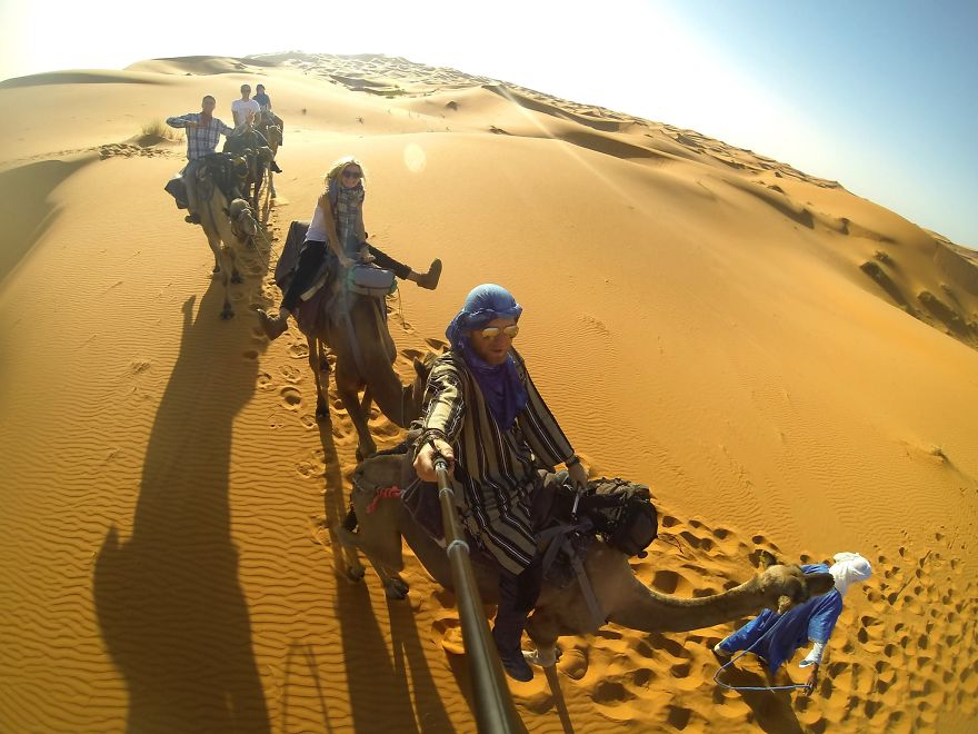 Rode camels in Sahara - We Visited Over 50 Countries With Our Van Spending Only $8 A Day