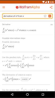 تطبيق Wolfram Alpha تطبيق لحل مسائل الرياضيات