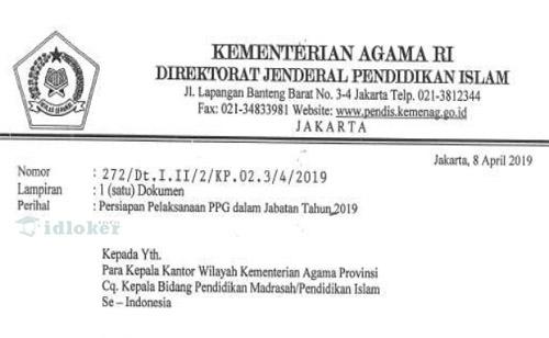 Persyaratan dan Cara Pendaftaran PPG Guru Madrasah 10 - 28 April 2019
