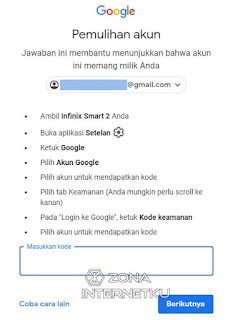 Cara Memulihkan Akun Gmail Yang Lupa Password Dengan Info Keamanan Akun HP
