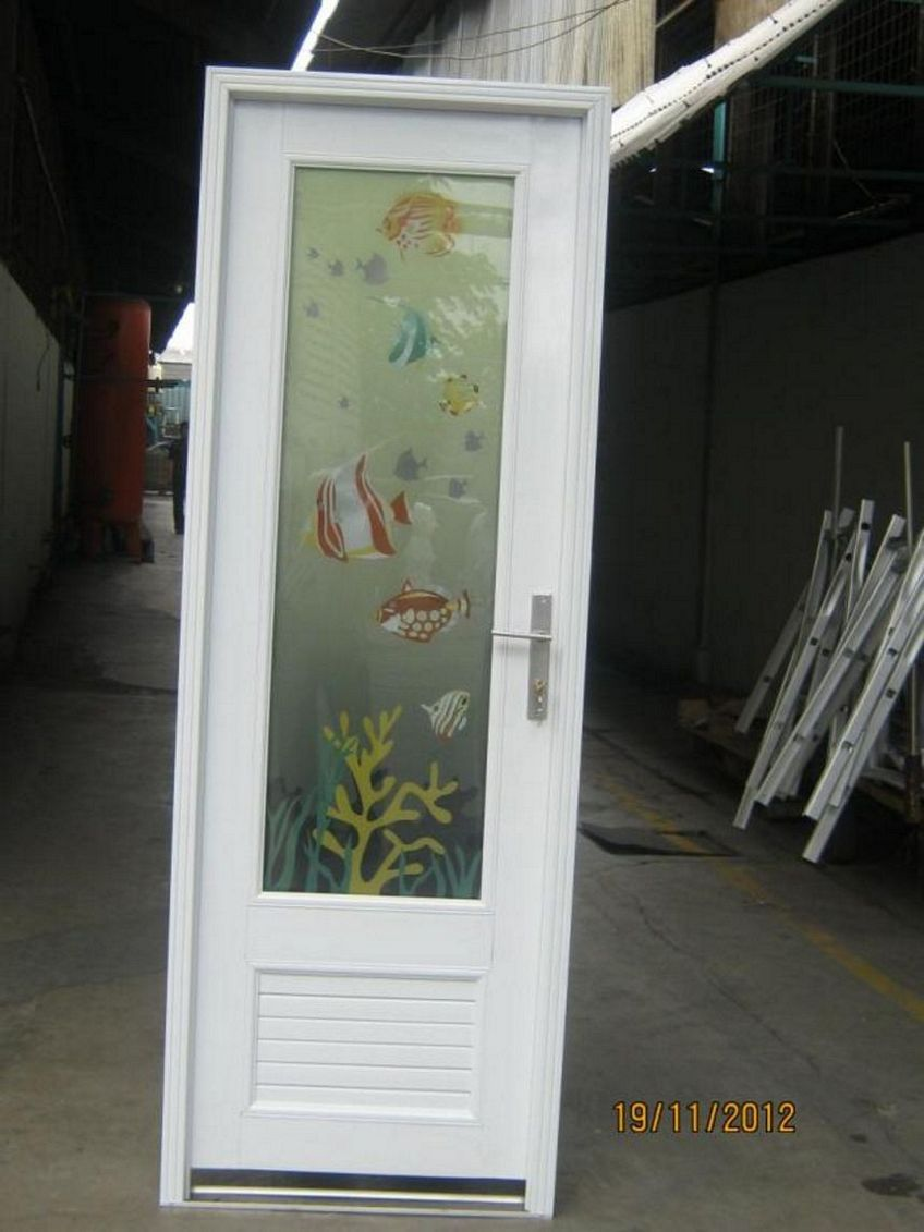 pintu aluminium putih 3