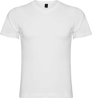 Kaos dengan Bentuk V-Neck