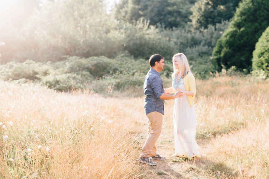 Dreamy Discovery Park Seattle Engagement Photography by Something Minted