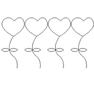 risco de coração para patch-aplique