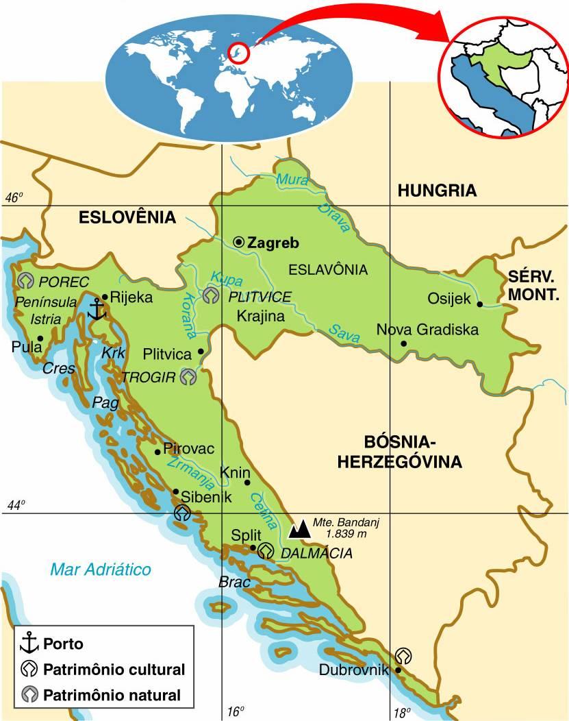 Croácia, Aspectos Geográficos e Socioeconômicos da Croácia