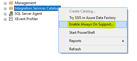 Enabling Always On Support for Integration Service Catalog