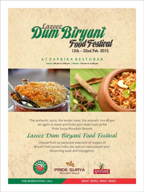 Biryani Food Festival Poster
