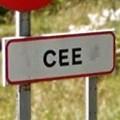 cartel del municipio de cee en a coruna galicia espana