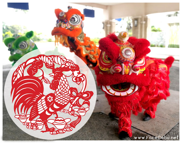 Lion Dance outside the main entrance of Waterfront Airpot Hotel and Casino