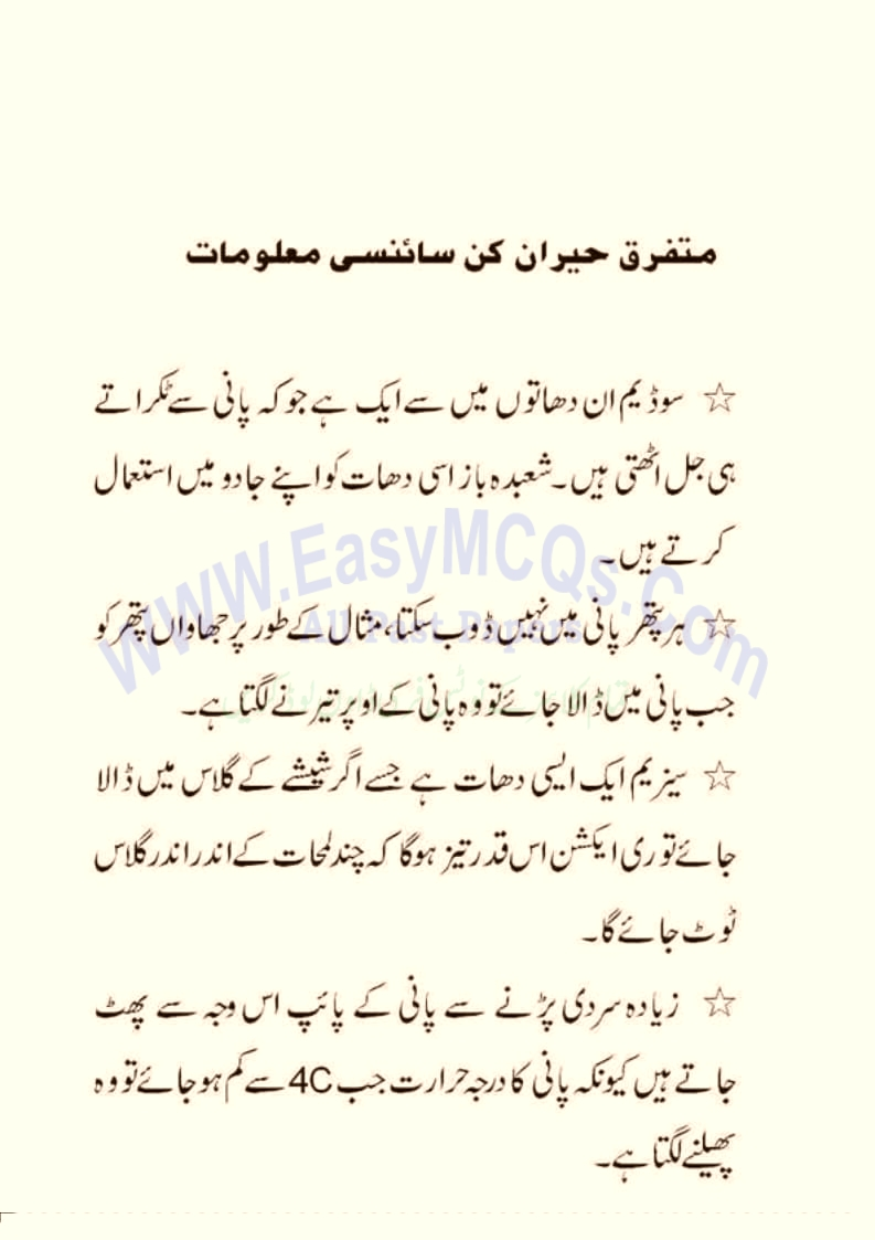 Learn Online Urdu General Knowledge Question Answers For Exams And Tests
