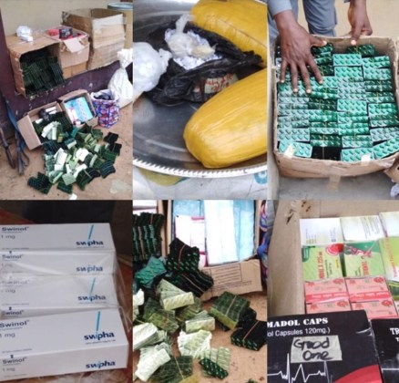Trailer Load Of Tramadol, Illegal Drugs Worth N44M Seized By Customs.