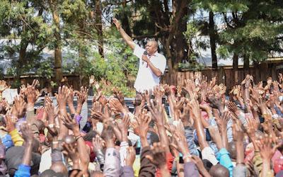 Uhuru Kenyatta in Nakuru. PHOTO | PSCU