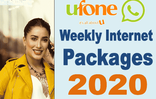 ufone weekly internent packages codes 2020