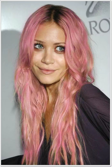 pink and orange ombre hairstyles