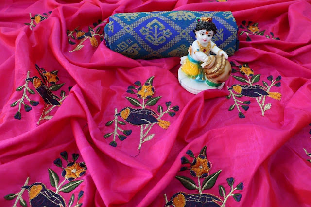 Latest Sana Silk Fabric Saree