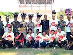 Polisi Tegal dan Brebes Olahraga Bersama dengan Pelajar Papua