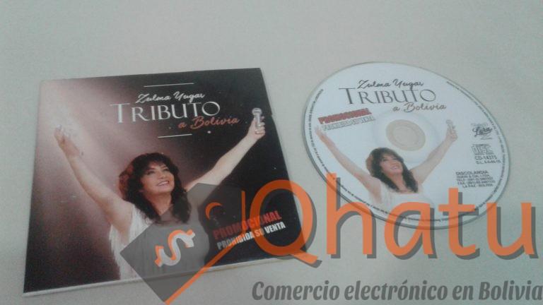 """(Bs. 10) Disco Compacto """"Tributo a Bolivia"""" de Zulma Yugar"""