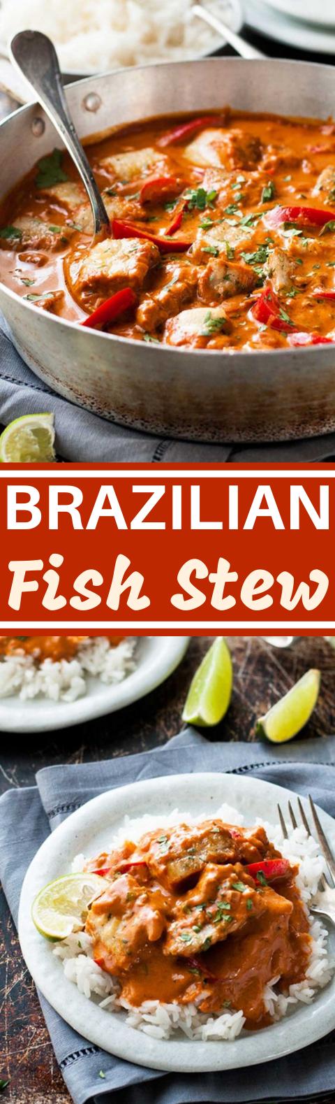 Brazilian Fish Stew (Moqueca Baiana) #lunch #dinner #seafood #recipes #stew