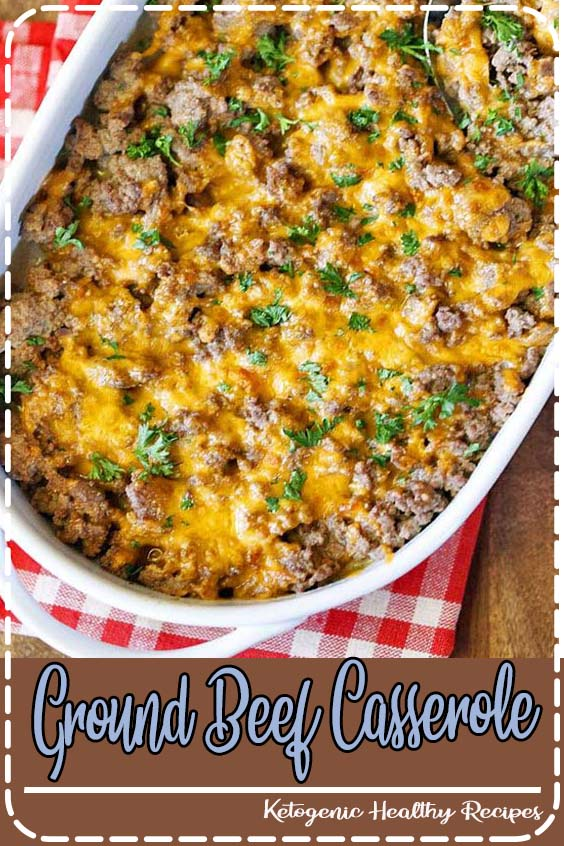 A very tasty ground beef casserole that is also healthy Ground Beef Casserole