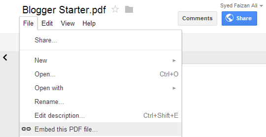 My Blogger Lab: How To Embed PDF and other Documents In
