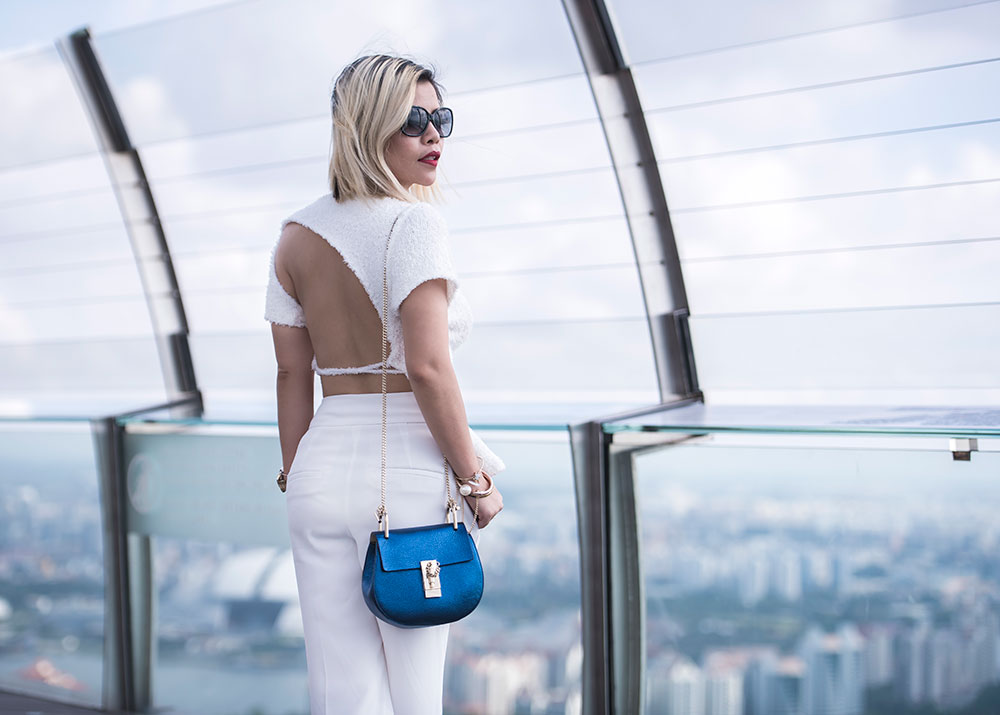 Crystal Phuong x Revolve Clothing: Marques Almeida bare back top and Chloe drew bag
