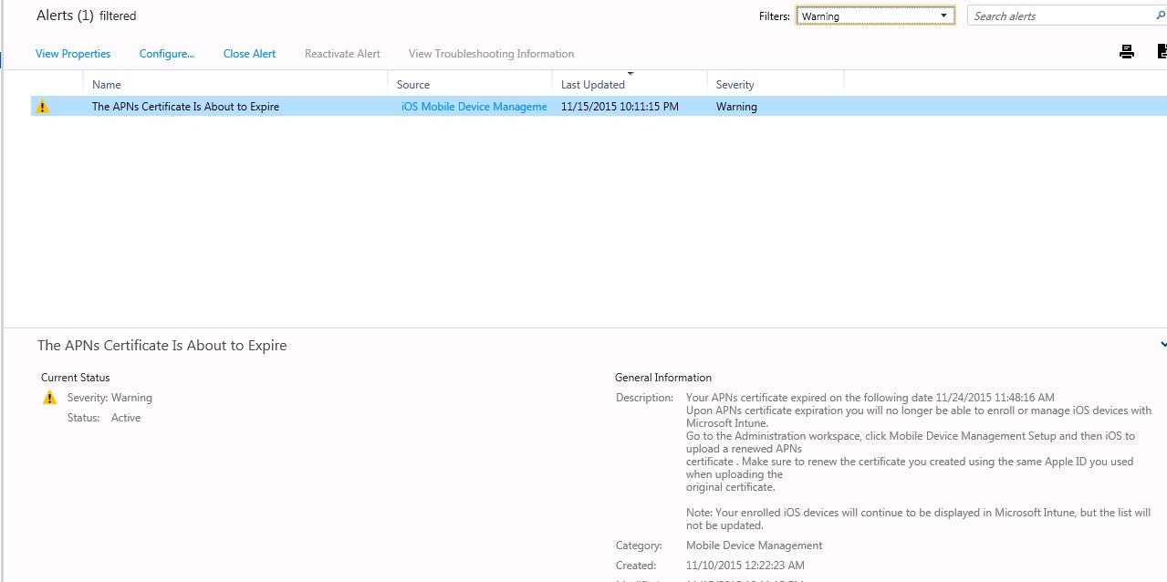 Gerry Hampson Device Management: Microsoft Intune - renew Apple APN