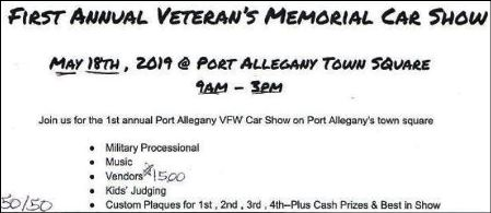 5-18 Vets Memorial Car Show, Port Allegany