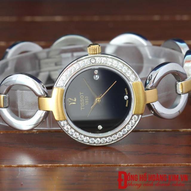 Đồng hồ đeo tay nữ tissot dây inox giá rẻ dưới 2 triệu