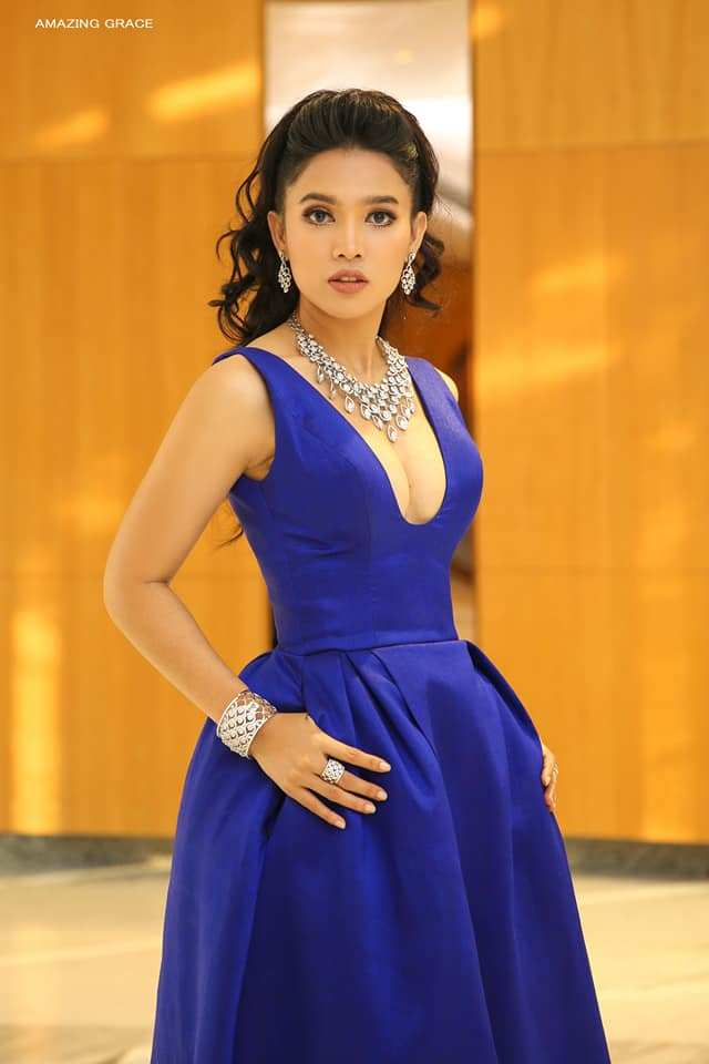Ma Aye Thaung - Shwe Nan Daw Jewelry Store Promotion Event