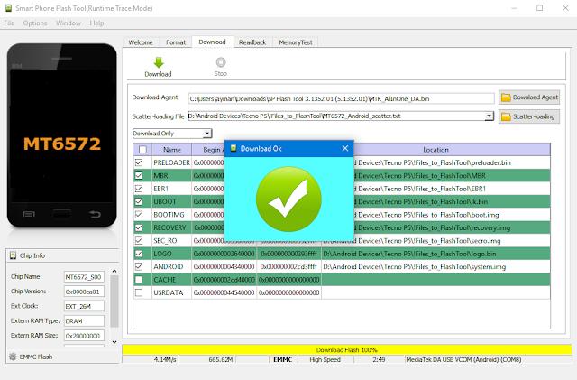 خطوات تفليش وتثبيت سوفتوير لأجهزة أندرويد بمعالجات ميديا تك MTK باستخدام SP Flash Tool
