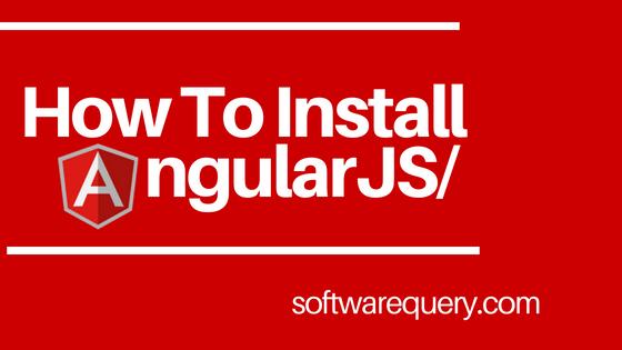 Install AngularJS