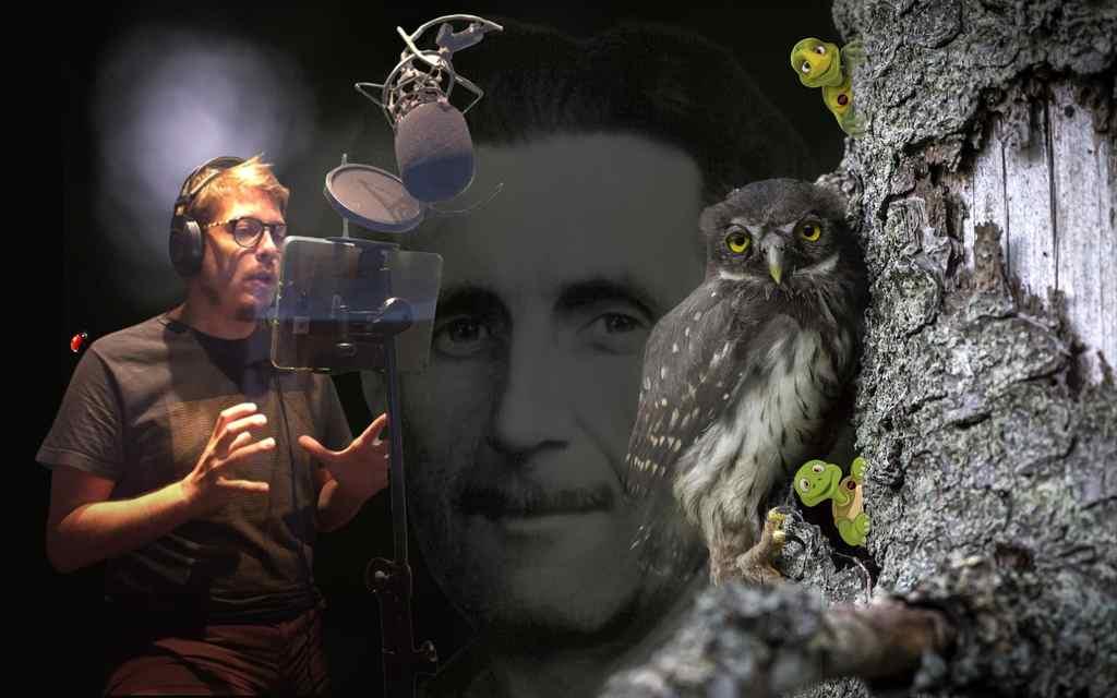O ator, humorista e apresentador Fabio Porchat voltou aos estúdios da Tocalivros para, desta vez, narrar a obra A Revolução dos Bichos, do escritor George Orwell.