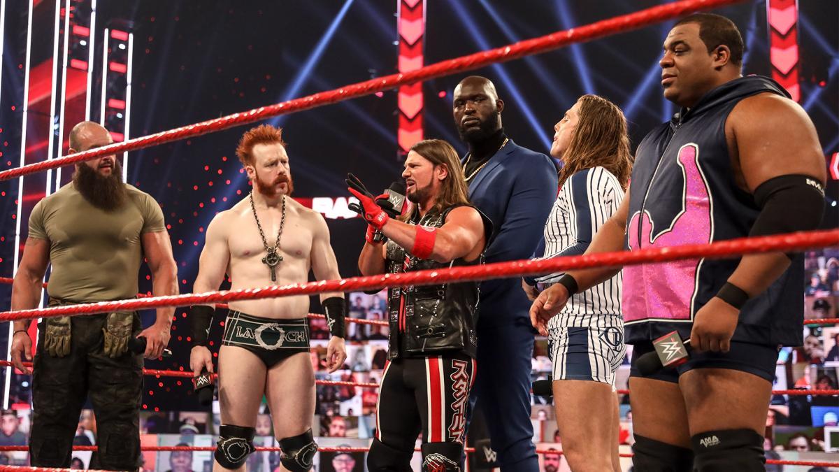 Braun Strowman, Sheamus, Riddle, AJ Styles, Keith Lee on WWE RAW