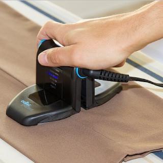 Un fer à repasser qui se plie spécialement conçu pour repasser les cols de chemise