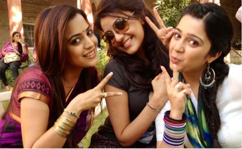 Kajal Aggarwal with Sister Nisha Aggarwal and Charmee Kaur