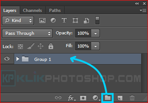 create layer group photoshop