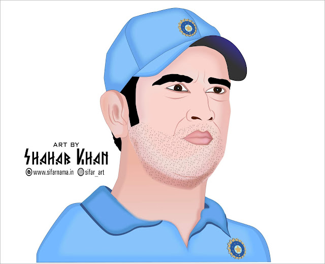 M S Dhoni Digital Art, dhoni, cricket, sports, team india