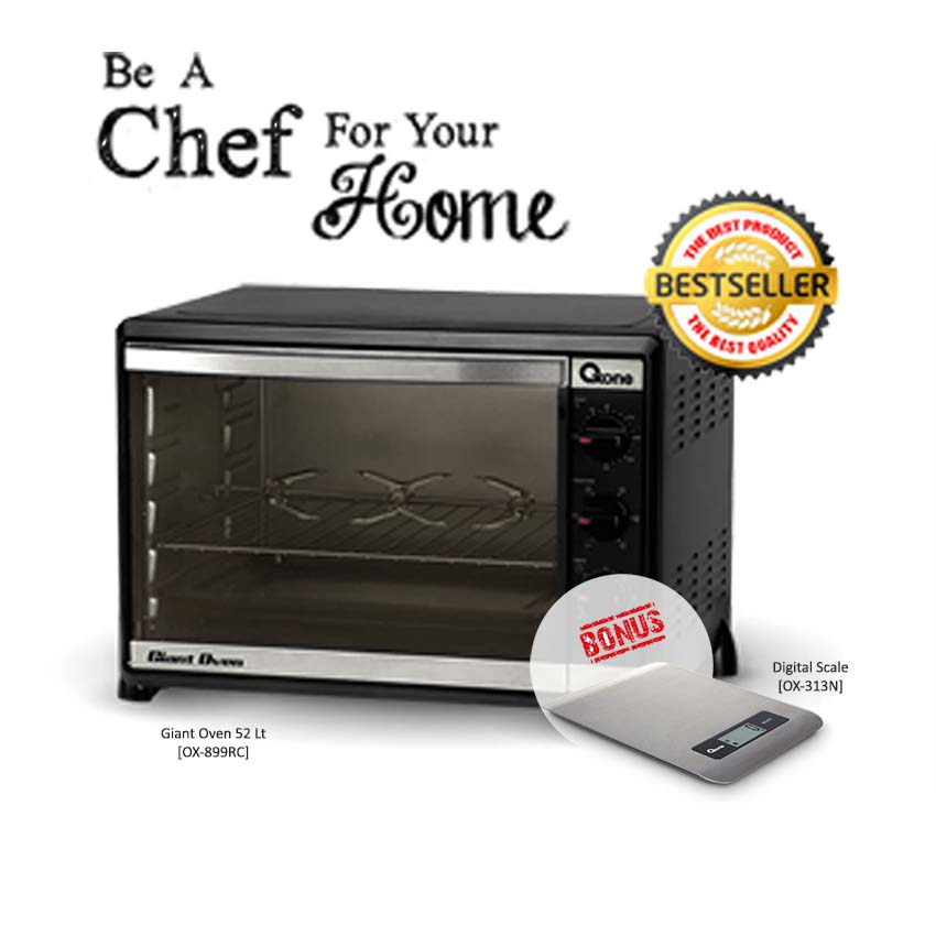 PAKET Giant Oven 52lt FREE Digital Scale - FREE ONGKIR