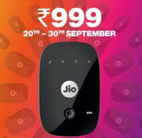 Reliance JioFi wifi Router & Hotspot price at 1999 Plans & Specification